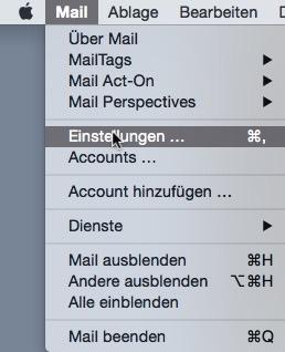 Mail Einstellungen