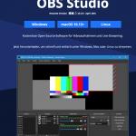 OBS Studio - Kostenlose Open-Source-Software für Videoaufnahmen und Live-Streaming